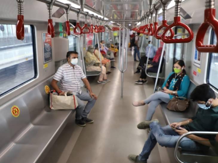 40 दिन बाद चली मेट्रो में पहले सफर में 15 लोगों ने लिया टिकट, आम दिनों में 40 हजार लोग करते हैं सफर लखनऊ,Lucknow - Dainik Bhaskar