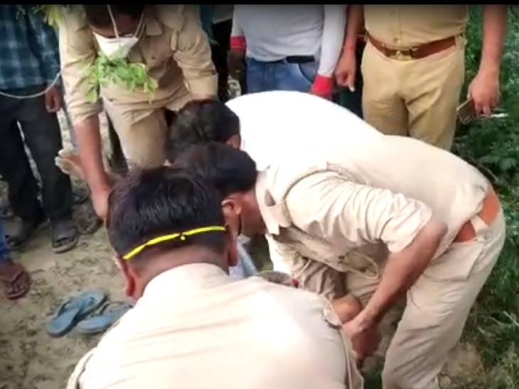 सिपाही की वर्दी में आए बदमाशों ने युवक को मारी गोली, गोमती नगर में लोहिया अस्पताल के पास हुई घटना|लखनऊ,Lucknow - Dainik Bhaskar