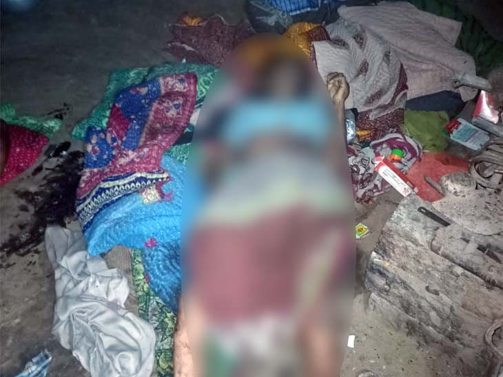 मृतकों की पहचान राजेन्द्र महतो (65) और पिटेल देवी (60) के रूप में की गई। - Dainik Bhaskar