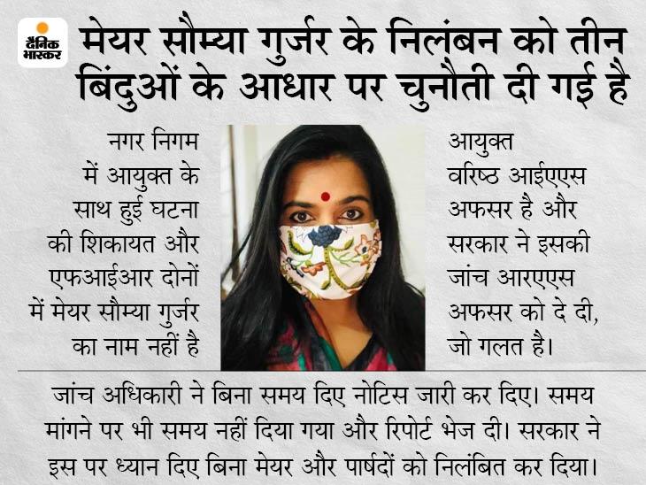 सौम्या गुर्जर की याचिका पर हाईकोर्ट में कल तक टली सुनवाई, सरकार कल हाईकोर्ट में जवाब पेश करेगी, सरकार की प्रतिष्ठा से जुड़ा है यह केस|जयपुर,Jaipur - Dainik Bhaskar