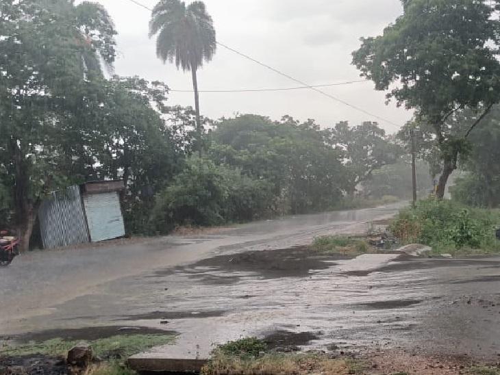 बैतूल के आमला-मुलताई क्षेत्र में भी जमकर बारिश हुई।