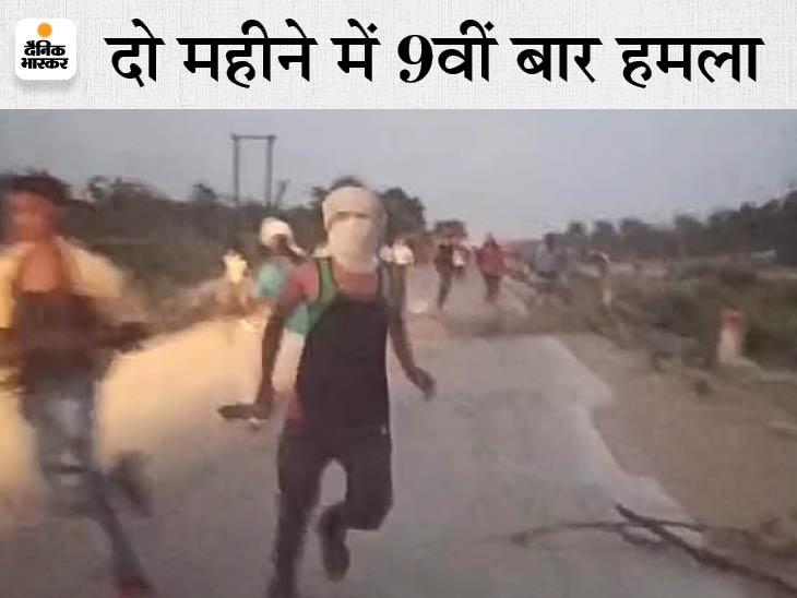 100 से ज्यादा ग्रामीण लाठी, डंडा, फरसा लेकर आए, फायरिंग की और रेत से भरा ट्रैक्टर छुड़ाकर ले गए; कहने पर भी नहीं आई पुलिस|मुरैना,Morena - Dainik Bhaskar