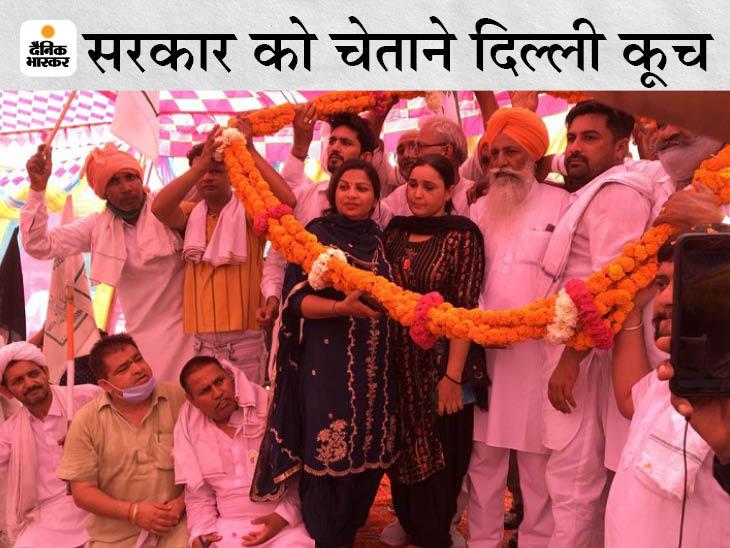 मंच पर किसान नेता गुरनाम सिंह। - Dainik Bhaskar