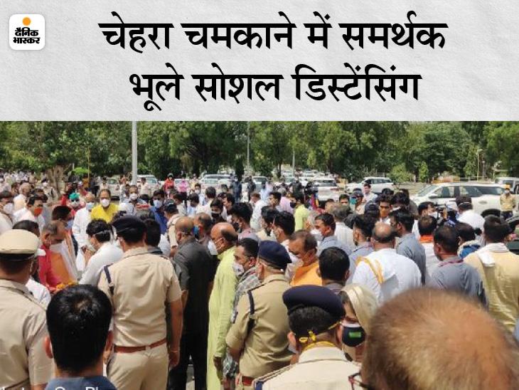 ज्योतिरादित्य बोले- CM बदलने की अफवाह किसने फैलाई पता नहीं; मुरैना में SDO पर हमला करने वाले नहीं बचेंगे|ग्वालियर,Gwalior - Dainik Bhaskar