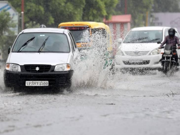 लखनऊ में सुबह से हो रही जोरदार बारिश, तेज हवाओं के बीच आकाशीय बिजली गिरने की संभावना; गर्मी से मिली राहत|उत्तरप्रदेश,Uttar Pradesh - Dainik Bhaskar