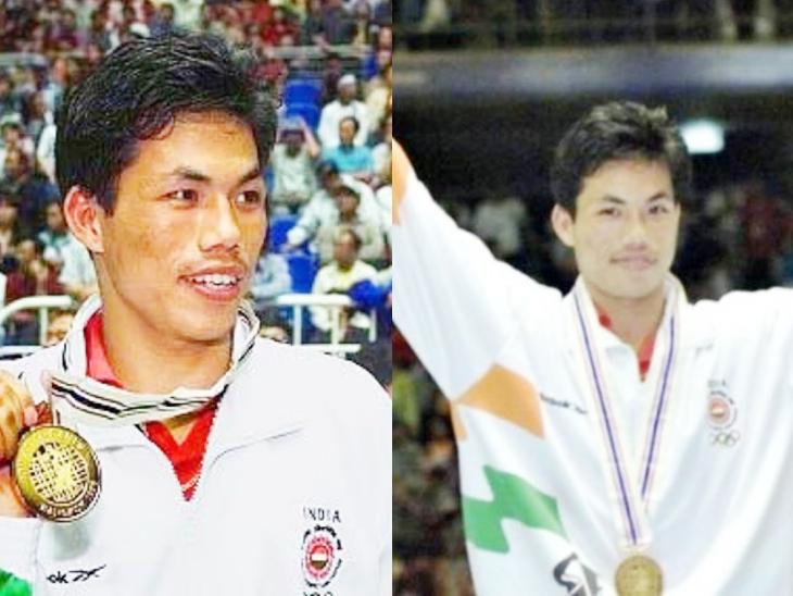 एशियन गेम्स में गोल्ड मेडल जीतने के बाद डिंको सिंह।