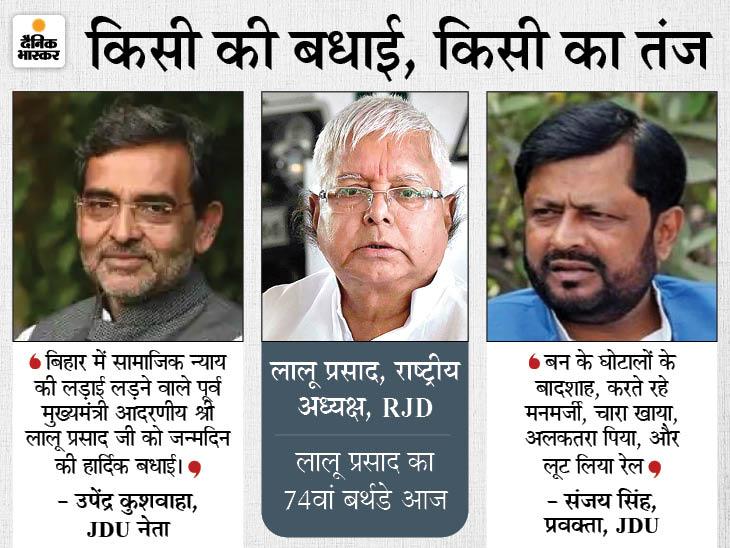 कुशवाहा ने बताया सामाजिक न्याय की लड़ाई लड़ने वाला नेता, प्रवक्ता संजय सिंह बोले- अलकतरा पिया और लूट लिया रेल|बिहार,Bihar - Dainik Bhaskar