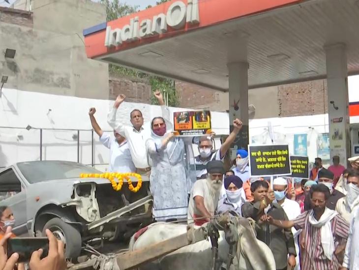 पेट्रोल-डीजल की बढ़ती कीमतों के खिलाफ कांग्रेस का देशभर में प्रदर्शन; यूथ कांग्रेस ने मोदी और उनके मंत्रियों को साइकिल भिजवाई देश,National - Dainik Bhaskar