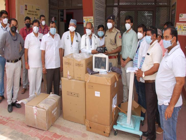 क्रिप्टो कोविड रिलिफ फंड ने बीडीके अस्पताल को प्रदान की 15 लाख की मेडिकल सामग्री, हर किसी ने की संस्था की सराहना|झुंझुनूं,Jhunjhunu - Dainik Bhaskar
