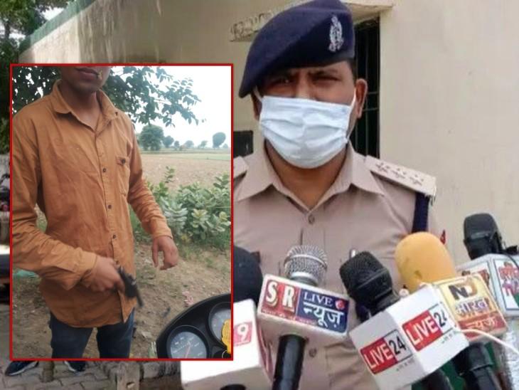 ग्राम पंचायत सदस्य के भतीजे को प्रधान ने दी गोली मारने की धमकी, कहा- 100 रुपए की कारतूस उतार दूंगा; पुलिस ने भेजा जेल|आगरा,Agra - Dainik Bhaskar