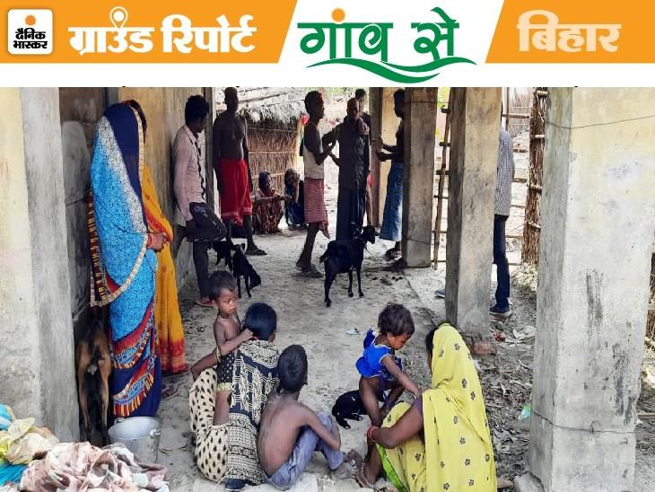 बिहार सरकार के पर्यटन मंत्री के गांव कठैया बिसुनपुरा का हाल, ग्रामीण बोले- हमें किसी सरकारी योजना लाभ नहीं मिला|नौतन,Nautan - Dainik Bhaskar