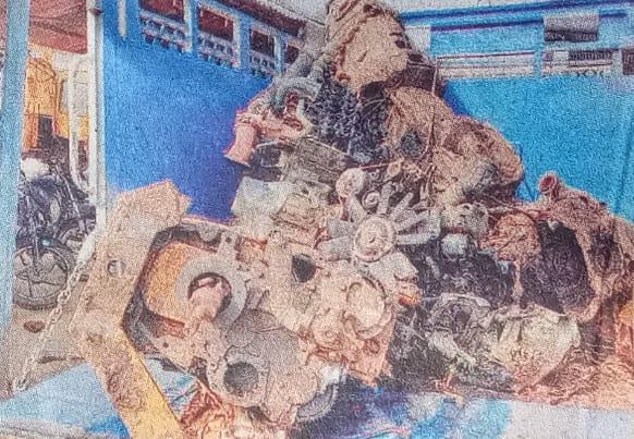पांच जनवरी को पुलिस को मिले थे वाहनों के इंजन।