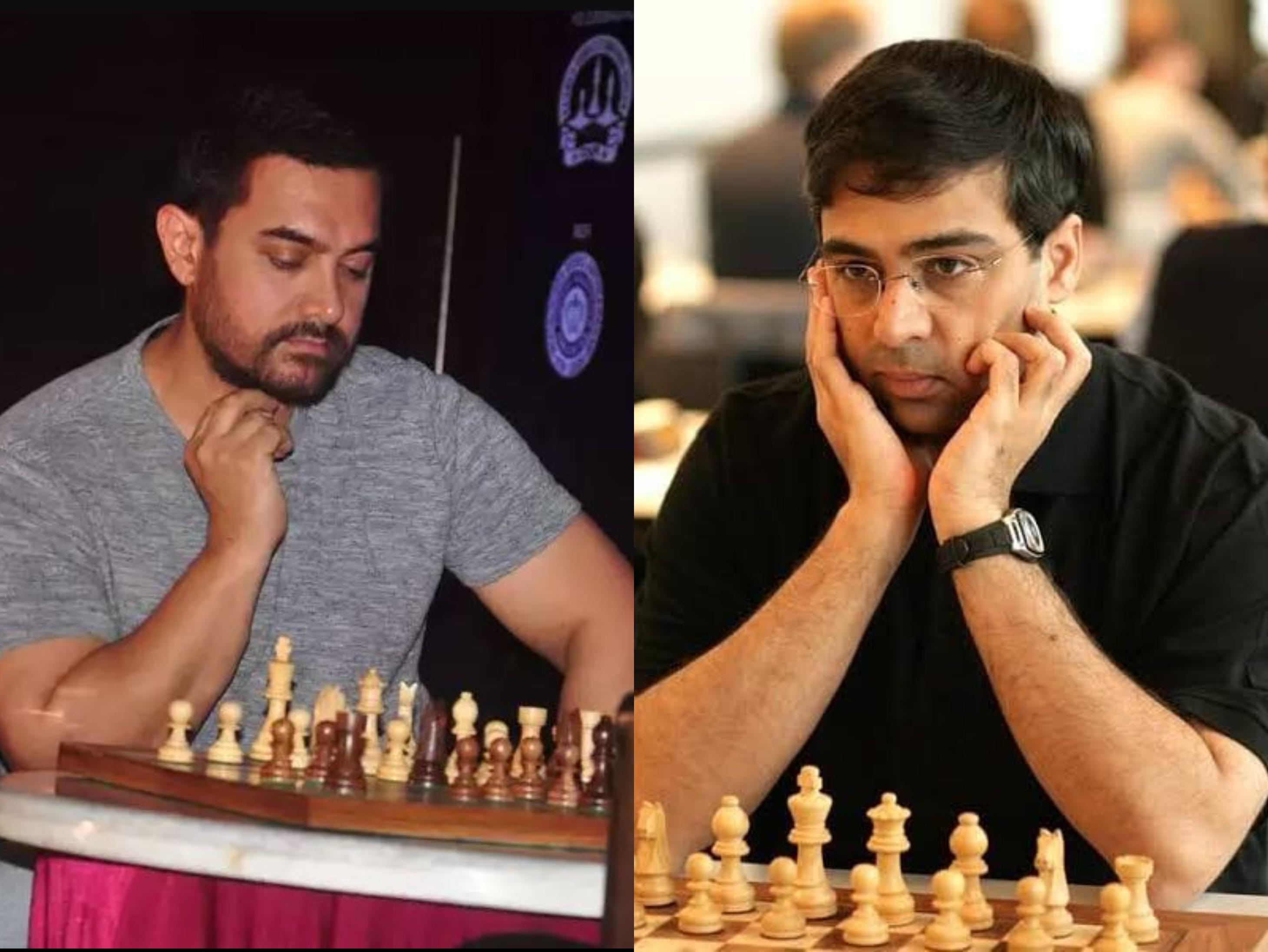 आमिर खान को शतरंज भी पसंद और ग्रैंड मास्टर भी, विश्वनाथन आनंद बोले-वादा करता हूं रोल के लिए वजन नहीं बढ़ाना पड़ेगा|बॉलीवुड,Bollywood - Dainik Bhaskar