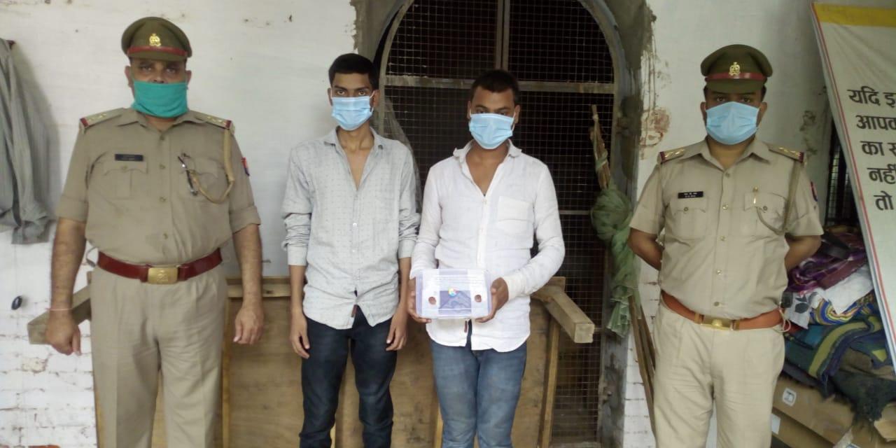 चाट विक्रेता को गोली मारने वाले दो बदमाश गिरफ्तार, घर के बाहर टहलते समय बदमाशों ने मारी थी गोली|गोरखपुर,Gorakhpur - Dainik Bhaskar