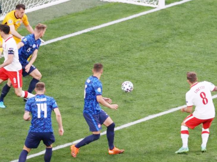 लिनेट्टी ने हाफ टाइम के तुरंत बाद पोलैंड की मैच में वापसी कराई।