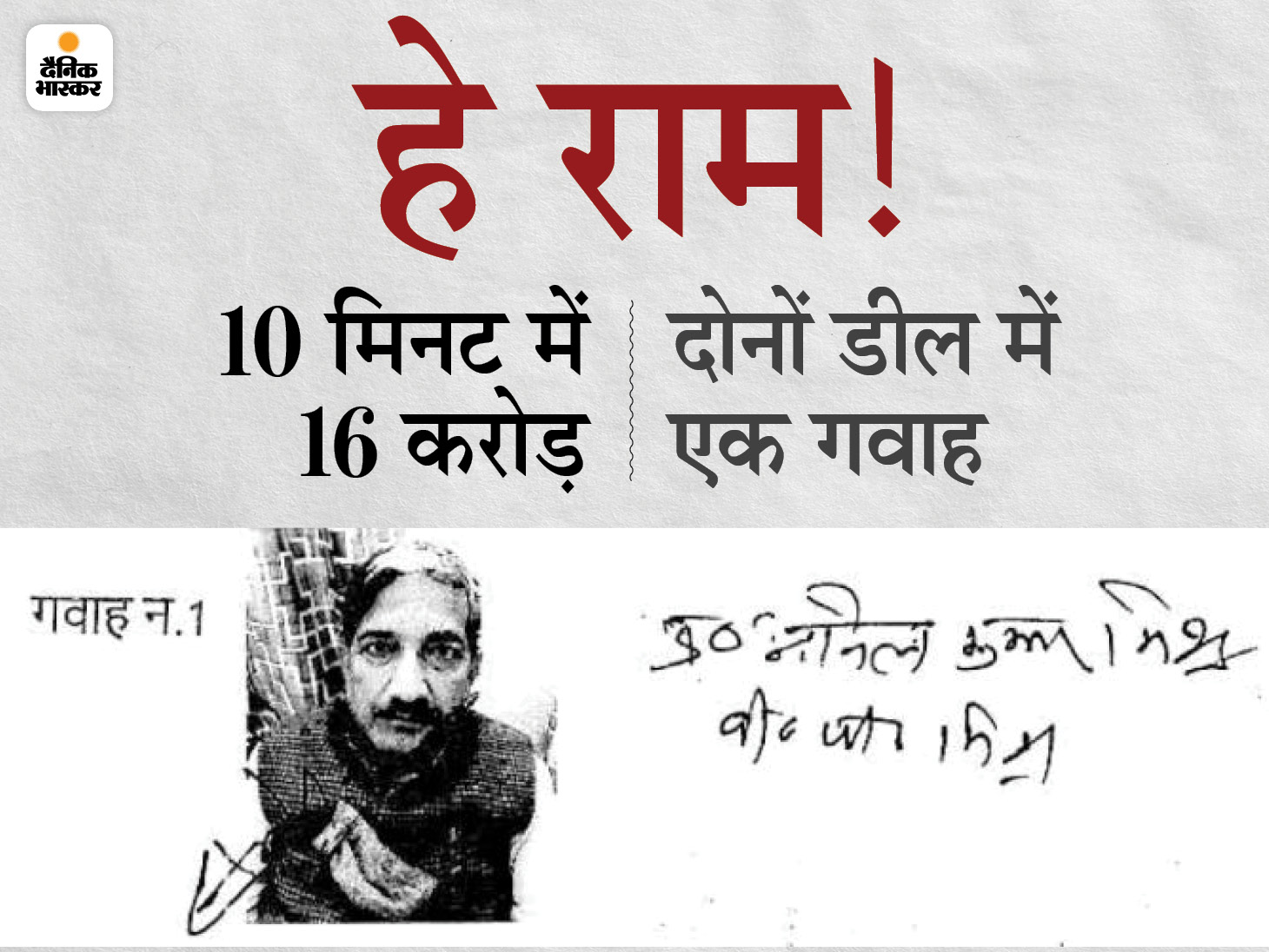 पूर्व मंत्री का सवाल- 2 करोड़ की जमीन 10 मिनट में 18.5 करोड़ की कैसे हो गई|अयोध्या,Ayodhya - Dainik Bhaskar