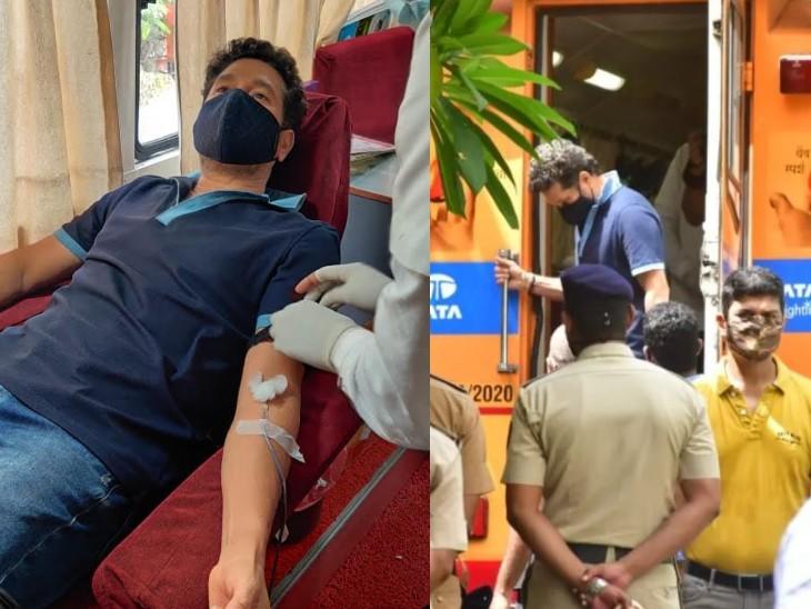 सचिन ने कहा- एक अनजान शख्स ने खून देकर मेरे रिश्तेदार की जान बचाई थी, हम सभी के पास यह शक्ति है, इसका इस्तेमाल करें|क्रिकेट,Cricket - Dainik Bhaskar