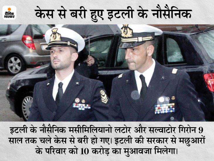सुप्रीम कोर्ट ने क्लोज किया 9 साल पुराना मामला, इटली के 2 नौसैनिकों पर थे आरोप; हर्जाना पहले ही दिया जा चुका देश,National - Dainik Bhaskar
