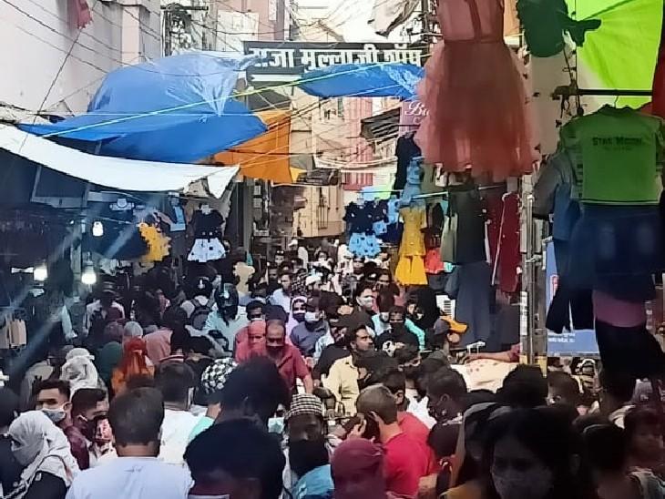 शहर के 63 वार्ड डार्क ग्रीन हुए यानी इन वार्डों में सोमवार को एक भी नया पॉजिटिव नहीं|भोपाल,Bhopal - Dainik Bhaskar
