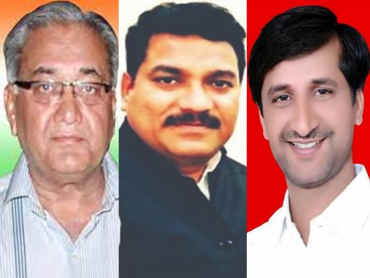 पायलट समर्थक विधायक दीपेंद्र सिंह शेखावत, वेदप्रकाश सोलंकी और इंद्राज गुर्जर। - Dainik Bhaskar