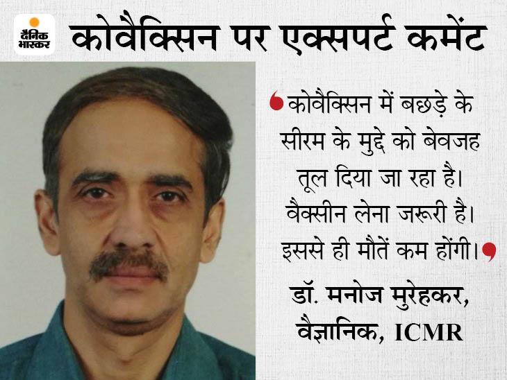 बछड़े का सीरम इस्तेमाल किया गया? ICMR का जवाब- सीरम ब्लड से लिया, उसे मारा नहीं गया; आंख बंद करके वैक्सीन लें|देश,National - Dainik Bhaskar