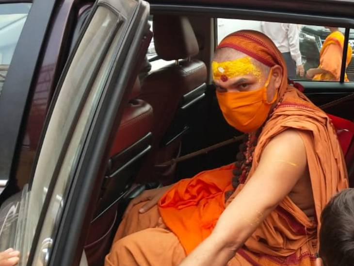अयोध्या पहुंचे अविमुक्तेश्वरानंद सरस्वती ने चंपत राय और अनिल मिश्र से की इस्तीफे की मांग, डीएम को दिया पत्र|अयोध्या,Ayodhya - Dainik Bhaskar