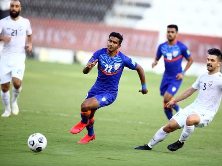 फीफा वर्ल्ड कप 2022 और एशियाई कप 2023 के दोहा में खेले जा रहे क्वॉलिफायर्स में भारत और अफगानिस्तान के बीच मैच ड्रॉ रहा। - Dainik Bhaskar
