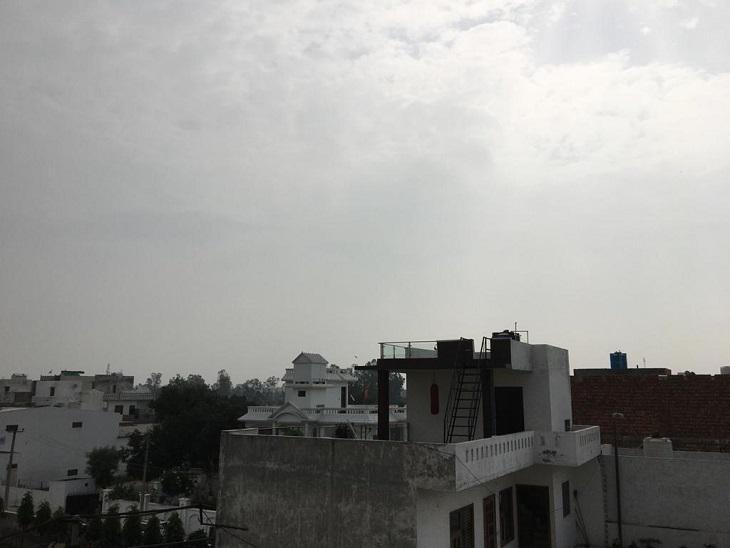 पानीपत में सुबह के समय आसमान में बादल छाए रहे। - Dainik Bhaskar
