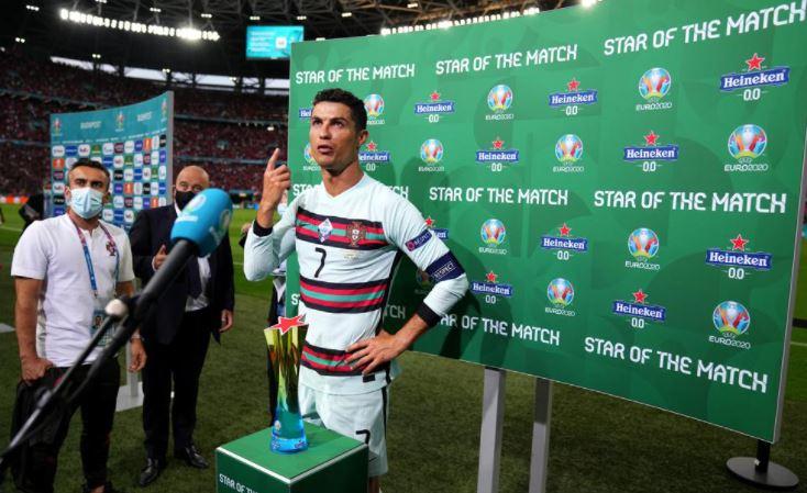 रोनाल्डो को स्टार ऑफ द मैच चुना गया।