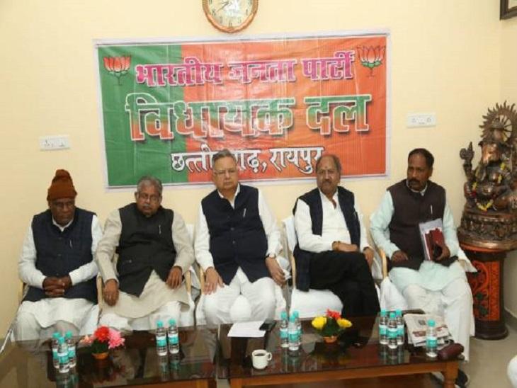 भाजपा विधायक दल की कांग्रेस राष्ट्रीय अध्यक्ष से मांग- छत्तीसगढ़ में ढाई-ढाई साल की कुर्सी के फार्मूले पर स्थिति स्पष्ट करें रायपुर,Raipur - Dainik Bhaskar