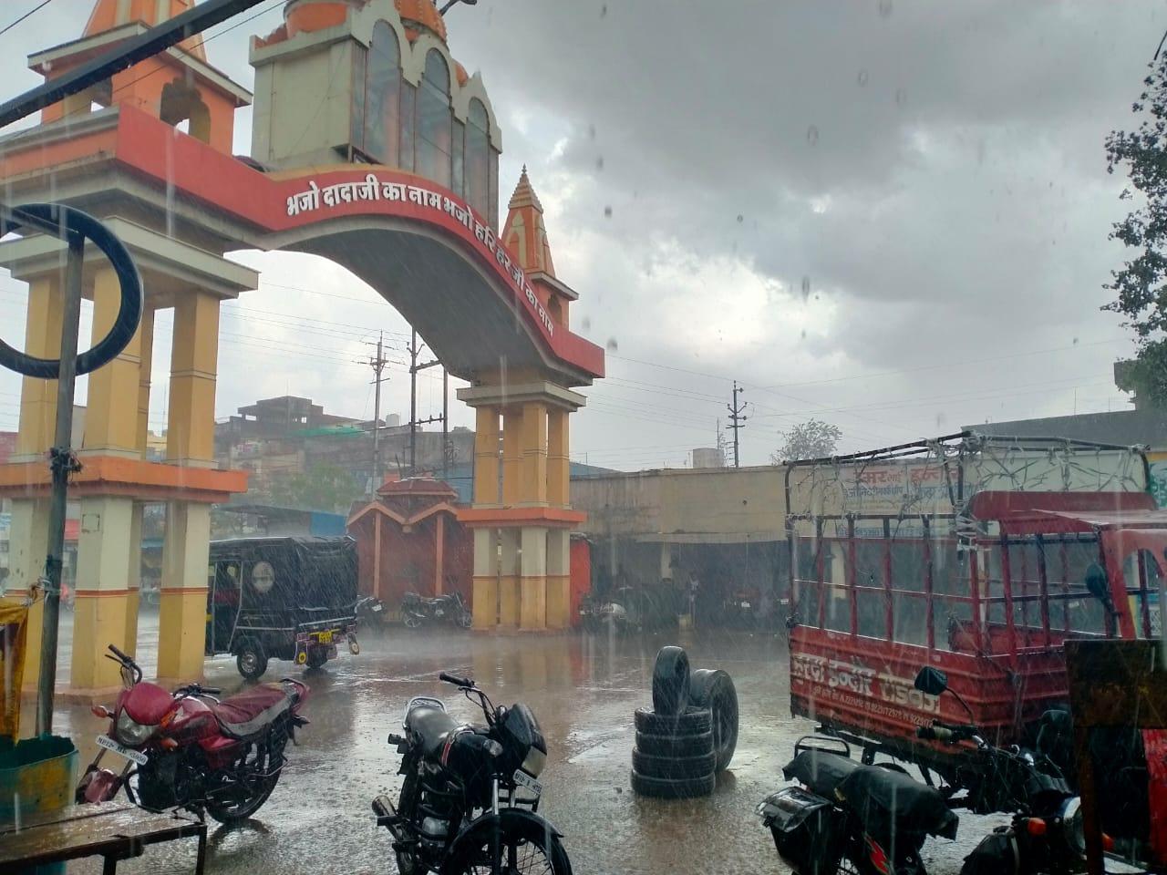 पहली बारिश में शहर तरबतर, घरों में जलभराव; वैज्ञानिक बोले- मानसून सक्रिय नहीं, सप्ताहभर बाद अच्छी बारिश के संकेत|खंडवा,Khandwa - Dainik Bhaskar