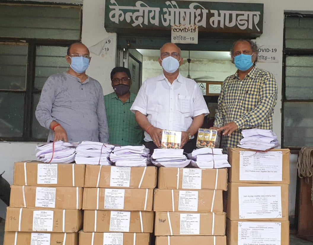बच्चों के कोरोना संक्रमित होने पर घर पर दी जाएगी दवा, CM योगी ने भिजवाई 12285 मेडिसिन किट वाराणसी,Varanasi - Dainik Bhaskar