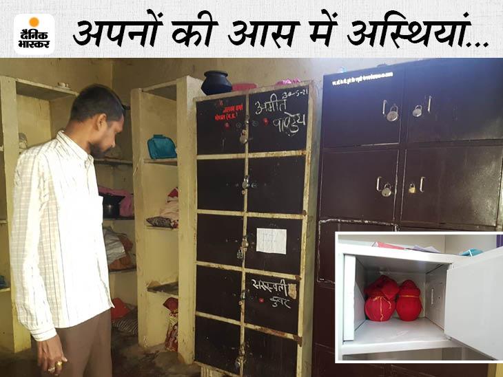 श्मशान में गड्ढा खोदकर सैकड़ों अस्थियों को गाड़ा, एम्स में नए कपड़े लेकर आए थे कई मरीज, बॉडी बैग में श्मशान घाट गए|रायपुर,Raipur - Dainik Bhaskar