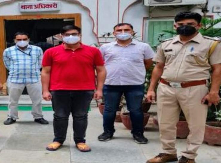 रेमडेसिविर की कालाबाजारी के आरोप में डॉ. जितेश को 21 मई को गिरफ्तार किया गया था। - Dainik Bhaskar