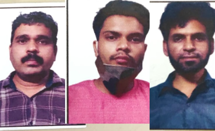 कारोबारी विमल जैन, कर्मचारी राहुल, ड्राइवर रिजवान। - Dainik Bhaskar