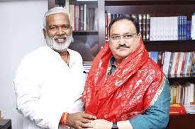 भाजपा के प्रदेश अध्यक्ष स्वतंत्रदेव सिंह दिल्ली में बीजेपी के राष्ट्रीय अध्यक्ष जे पी नड्डा से मुलाकात करेंगे। फाइल फोटो - Dainik Bhaskar