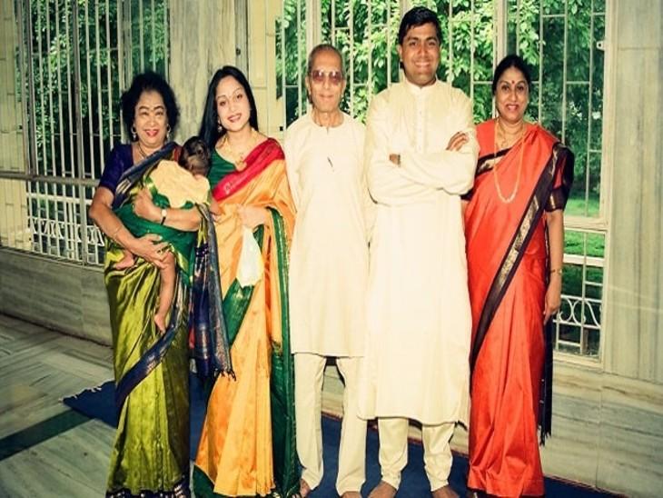 अपने परिवार के साथ शकुंतला देवी।