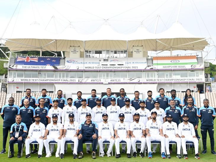 साउथैम्पटन में टीम इंडिया की ग्रुप फोटो।