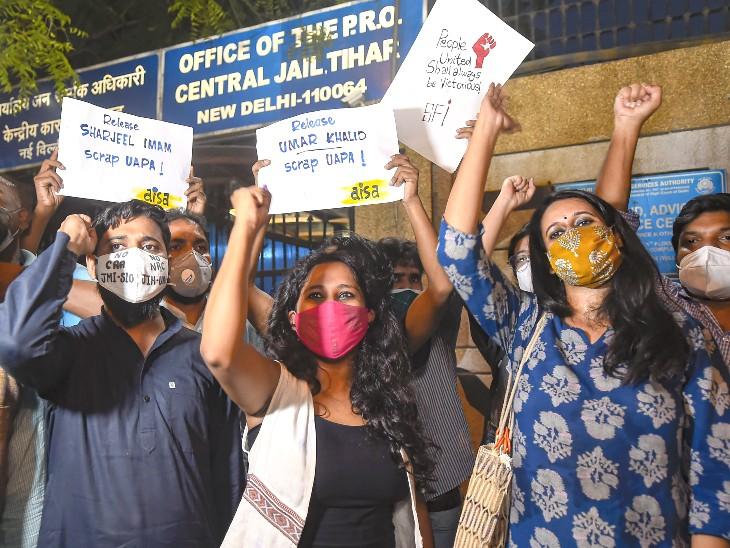 HC के आदेश पर पिंजरा तोड़ के तीनों एक्टिविस्ट तिहाड़ जेल से रिहा, दिल्ली पुलिस की याचिका पर सुप्रीम कोर्ट में कल सुनवाई देश,National - Dainik Bhaskar