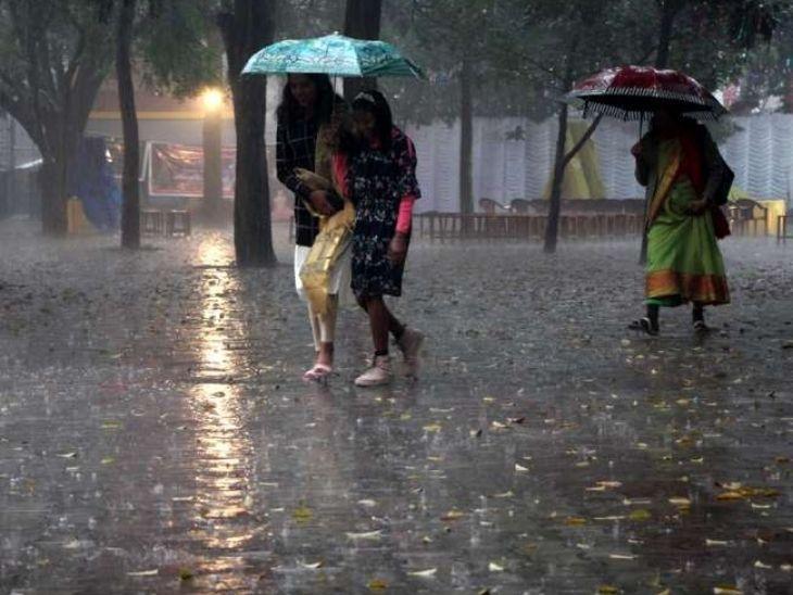 रांची में सुबह से हो रही बारिश, कोडरमा, चतरा, धनबाद में आज भारी बारिश के आसार, 40 KM प्रति घंटे की रफ्तार से चलेगी हवा|रांची,Ranchi - Dainik Bhaskar