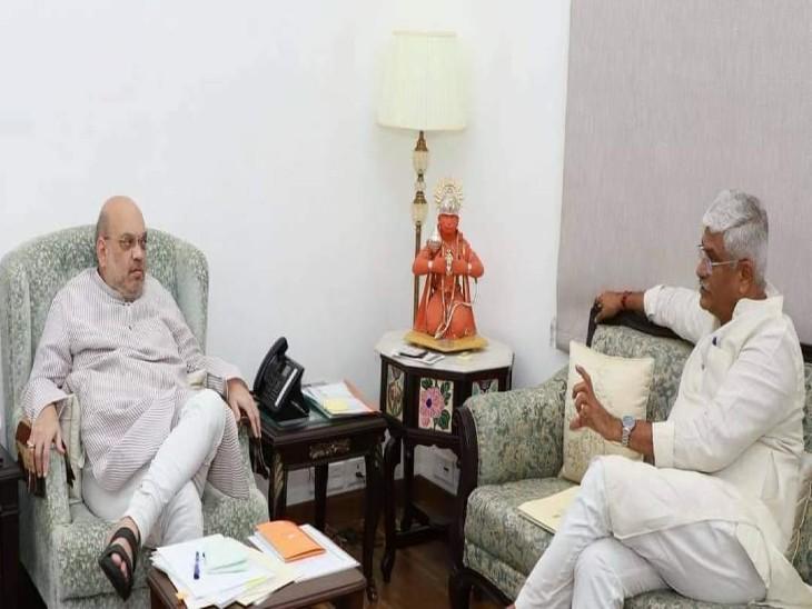 केंद्रीय जल शक्ति मंत्री गजेंद्र सिंह शेखावत गृह मंत्री अमित शाह से मिले, कमलेश एनकाउंटर की जांच CBI से करवाने की मांग|बाड़मेर,Barmer - Dainik Bhaskar