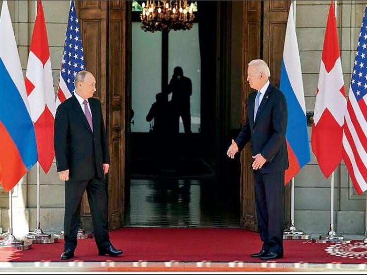 पुतिन सायबर अटैक पर नहीं झुके, जो बाइडेन ने मानवाधिकार पर घेरा, अमेरिका और रूस ने एक-दूसरे को महाशक्ति बताया|विदेश,International - Dainik Bhaskar