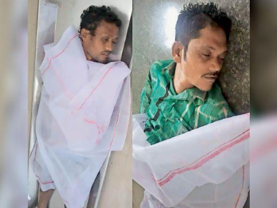 जहरीली गैस के कारण मृत हुए राजमिस्त्री। - Dainik Bhaskar