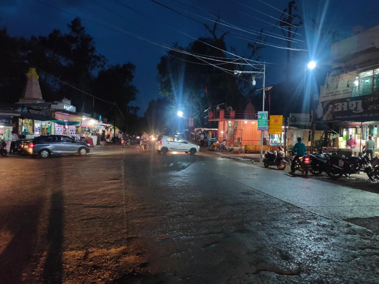 तीन दिन बाद शाम को शुरू बारिश, गर्मी व उमस से मिली राहत|होशंगाबाद,Hoshangabad - Dainik Bhaskar