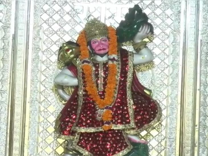 भीमसर का रूपाणा धाम बालाजी मंदिर में विराजे हनुमानजी। - Dainik Bhaskar