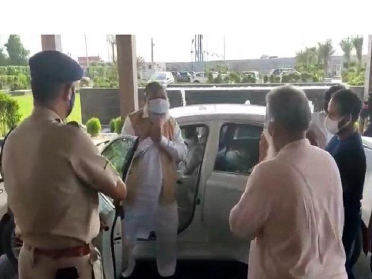 पानीपत के समालखा पहुंचे गृहमंत्री अनिल विज। - Dainik Bhaskar