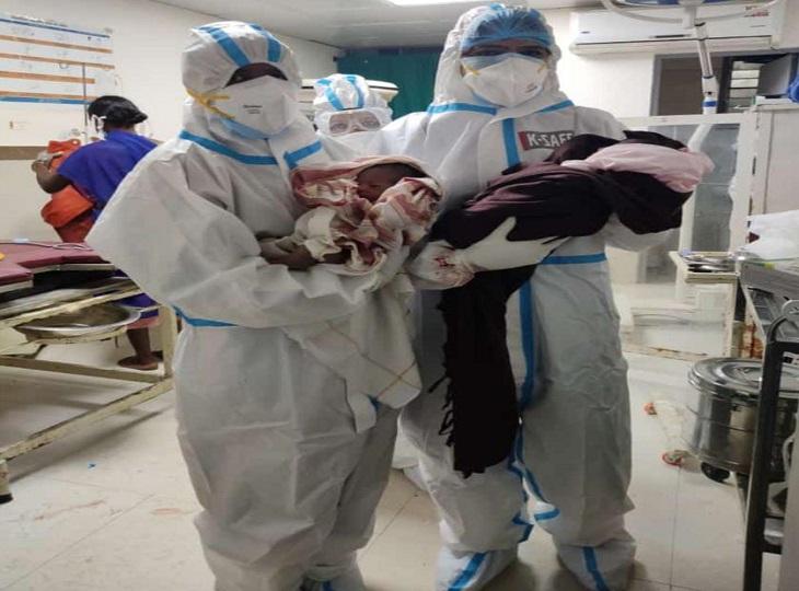गीदम के कोविड अस्पताल में कोरोना संक्रमित दो गर्भवती महिलाओं ने बच्चों को दिया जन्म, जच्चा-बच्चा दोनों सुरक्षित|दंतेवाड़ा,Dantewada - Dainik Bhaskar