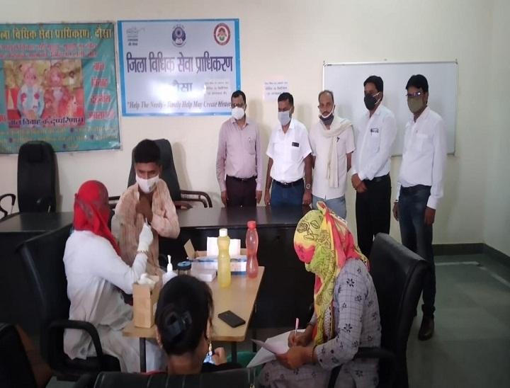 जिला अस्पताल में सिर्फ एक कोरोना संक्रमित भर्ती, 545 सैंपल की जांच में तीन पॉजिटिव केस आए; वैक्सीनेशन भी पकड़ रहा गति|दौसा,Dausa - Dainik Bhaskar