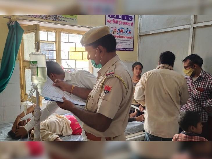 गर्भवती सहित 2 महिलाएं और 3 बच्चे समेत 6 लोग हुए घायल, खेत पर काम करते समय एक पक्ष ने दूसरे पक्ष पर किया हमला|भरतपुर,Bharatpur - Dainik Bhaskar