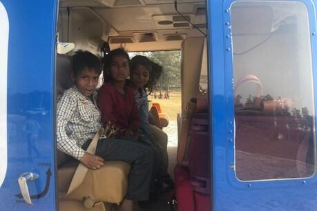 कुछ दिन पहले सीएम योगी पिपराइच गांव के दौरे पर गए थे। वहां बच्चों ने हेलिकाप्टर में बैठने की जिद की तो योगी ने बच्चों को बारी-बारी से हेलिकाप्टर की सैर करवाई थी।